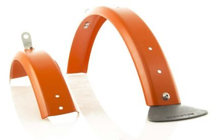 Brommiemods Orange L mudguards for Brompton