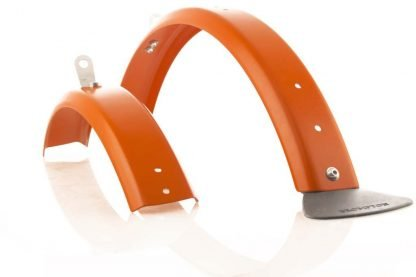 Brommiemods Orange L -type mudguards for Brompton folding bicycles (without rack)